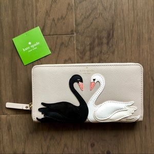 kate spade new york on pointe lacey swan wallet